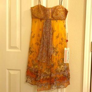 Peachy Silk Baby Doll Dress size 4
